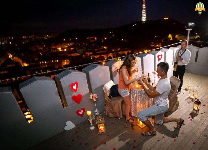 Романтическое признание в любви на Ратуше